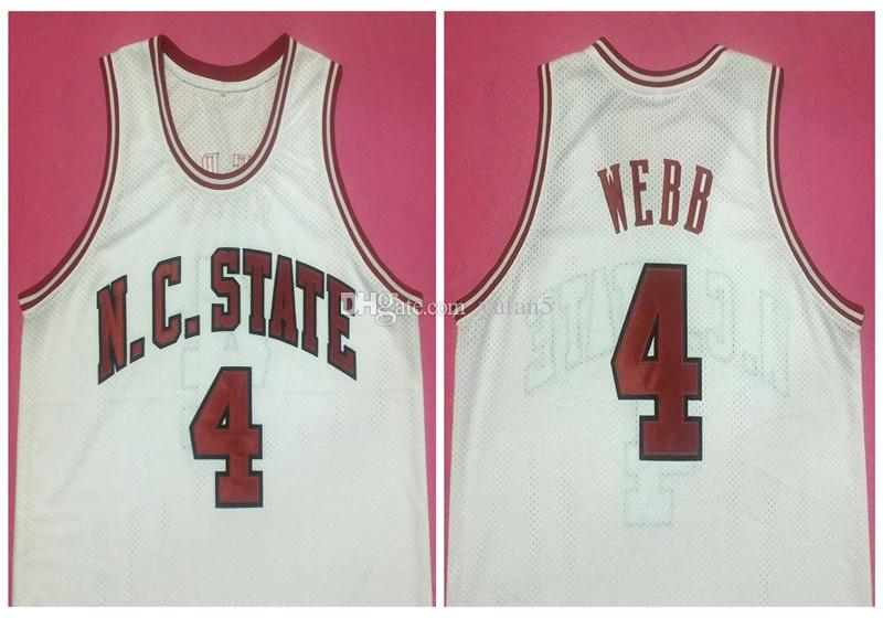 dc5d4717b 2019  4 Spud Webb NC State Wolfpack College Retro Classic Basketball Jersey  Mens Stitched Custom Number And Name Jerseys From Yufan5