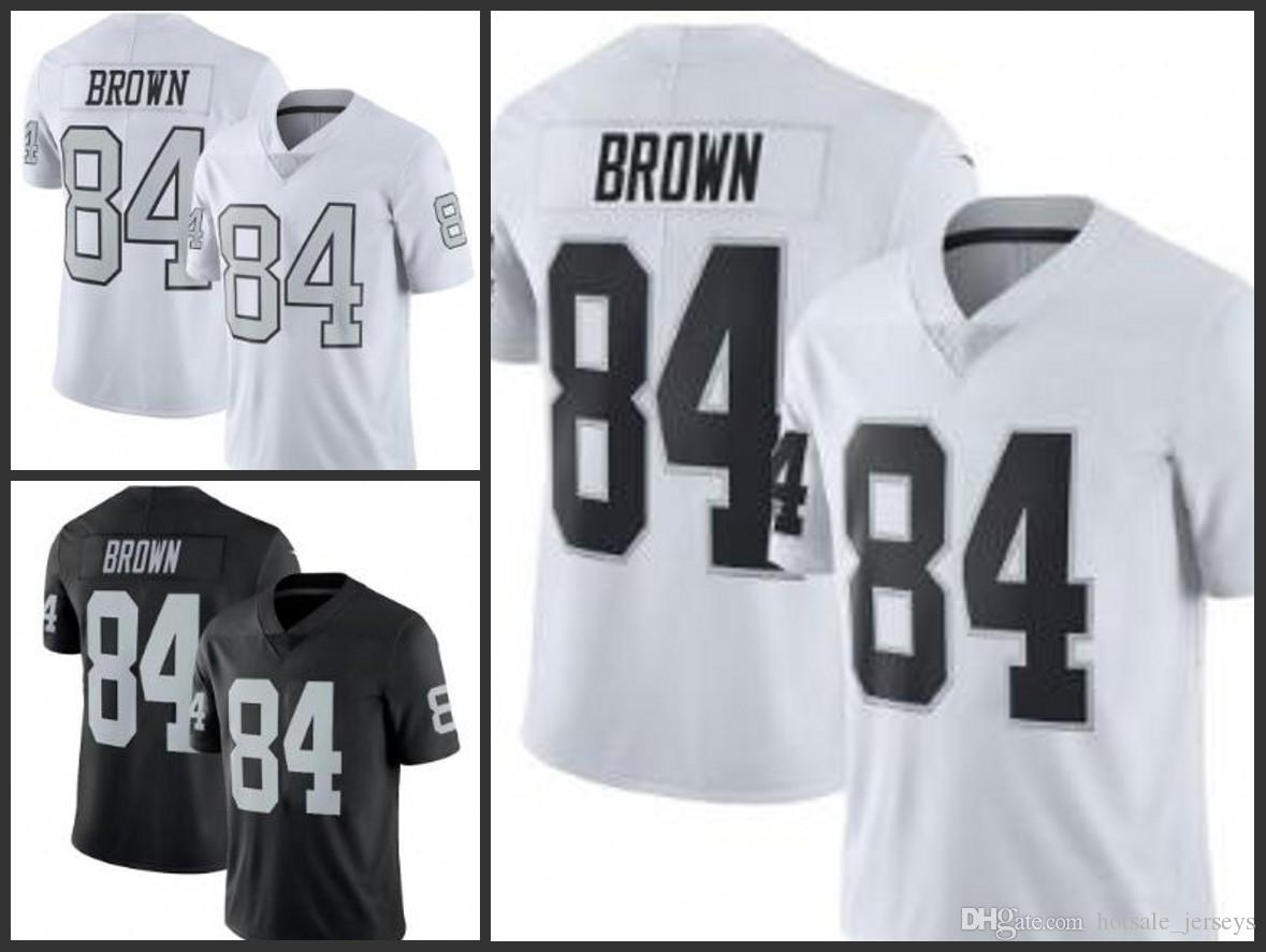 separation shoes c59cd 31613 2019 Hot Sale Oakland 84 Antonio Brown Jersey Men Raider Football Latest  Jerseys Color Rush Stitched Black White
