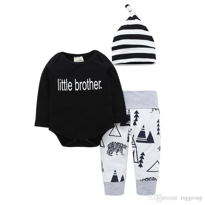 b8d98d35c097 2019 Hot Selling Factory Price Strips Hat Cap Letters Kids Boys Short Sleeve  Jumpsuits Baby Girls Pants Suits With Factory Price From Rsggroup