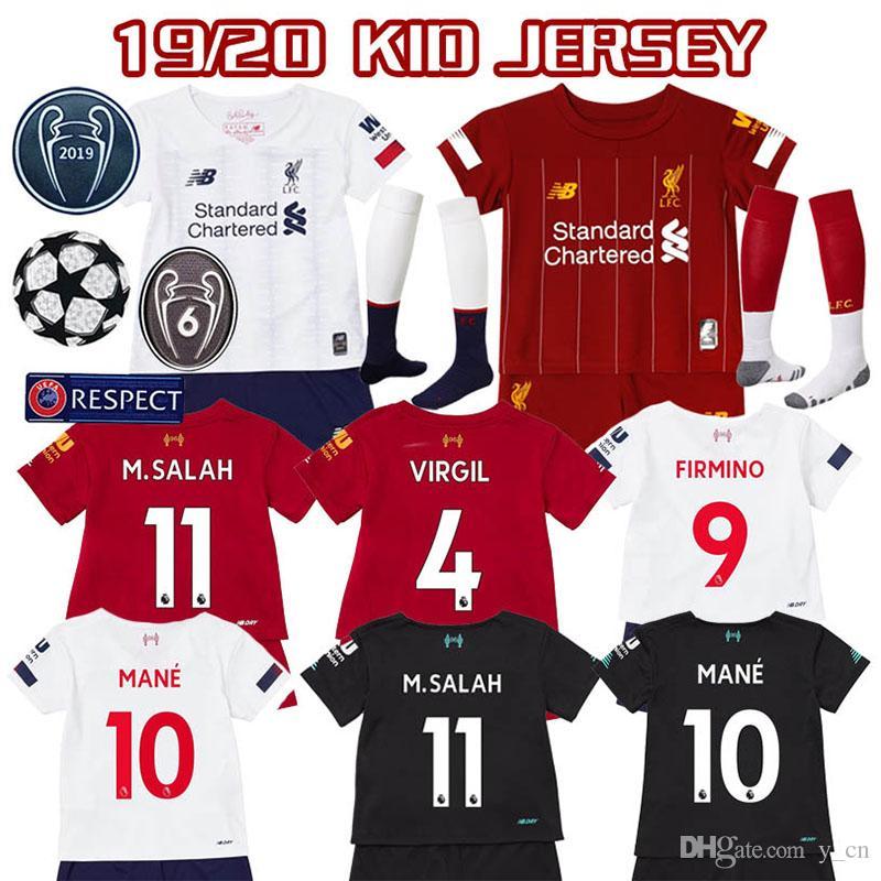 Mohammad Salah 11 2018-2019 Liverpool Third Football Soccer T-Shirt Maillot