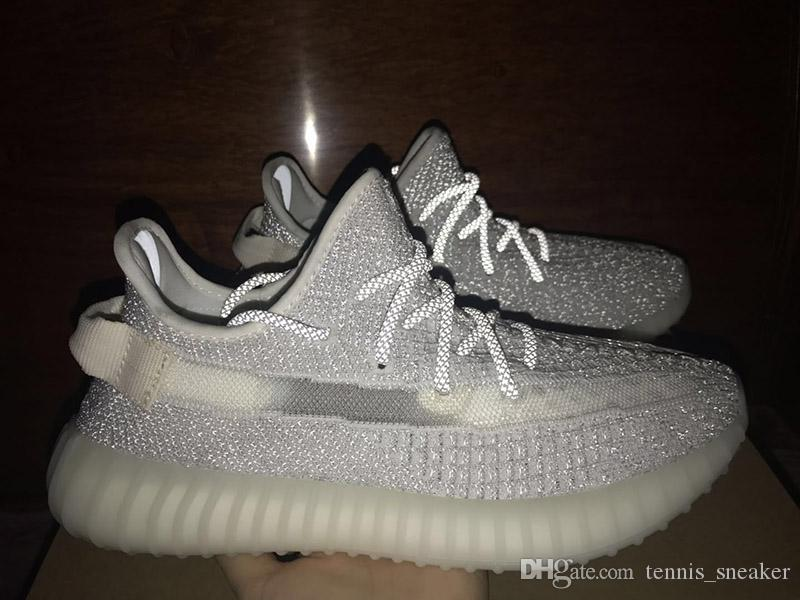 buy popular d90d9 2a770 2019 High Quality Static Reflective 350 V2 Mens Running Shoes EF2367 StockX  Sticker Designer Sport Sneakers Size 36-48