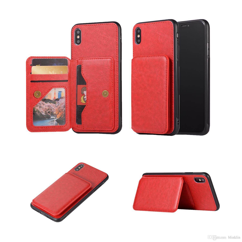7dfc80506b974 iPhone XS Max Case Vintage Multi-Funktions-Kartenfach Magnet Schutzhülle  für iPhone XS MAX 6.5 für Herren