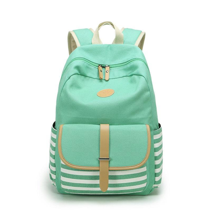 84b6f120e Women Backpacks For Teenage Teen Girls Canvas Backpack Female Striped  Feminine Backpack School Bagpack Girl Mochila Feminina Bag Online with  $35.93/Piece on ...