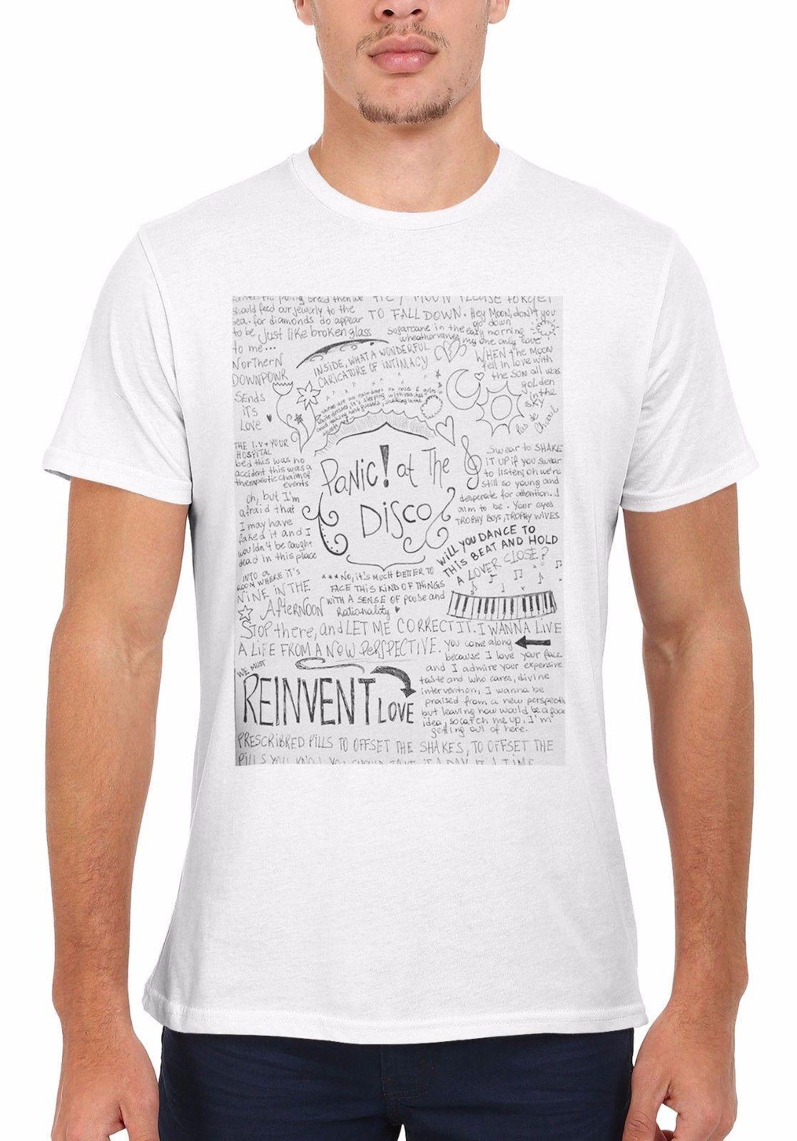 2f01444166da00 Panic At The Disco Band Lyrics Cool Men Women Vest Tank Top Unisex T Shirt  1875 Gift Print T Shirt