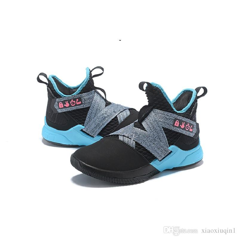 quality design e7f59 6f6ce Cheap new lebron soldier 12 xii shoes mens basketball for sale MVP  Christmas BHM Oreo youth kids Generation sneakers boots with original box