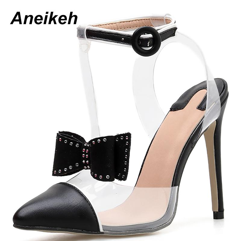 8b6e7e2d3f9 Dress Aneikeh 2019 Fashion Gladiator Women Pumps Ladies Shoes High Heels  Pointed Toe Butterfly Knot Sexy 11cm Heels Ladies Shoes Pump Birkenstock  Shoes ...