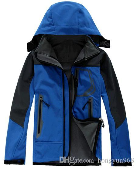 c10a134b8 Mens North Face Brand Designer Coats Luxury Casual Winter Jackets Male  Outdoor Windbreaker Solid Color Hooded Jacket