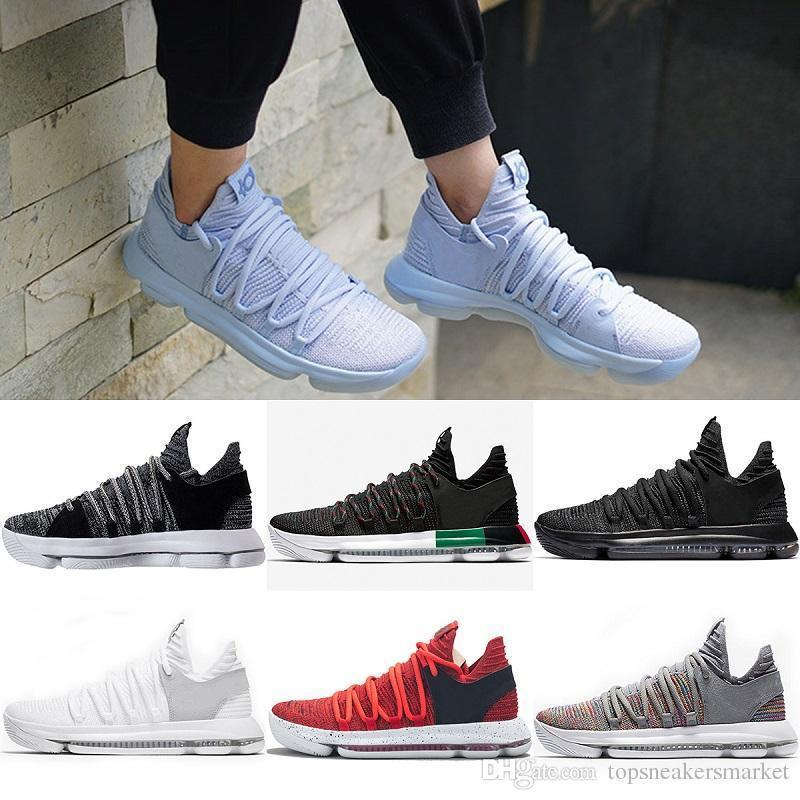 watch d90ac 3c865 Newest Basketball Shoes Mens Kd 10s Sport Sneakers Triple Black White Bhm  Oreo Anniversary Red Multi Color Elite Durant Big Eur 40-46