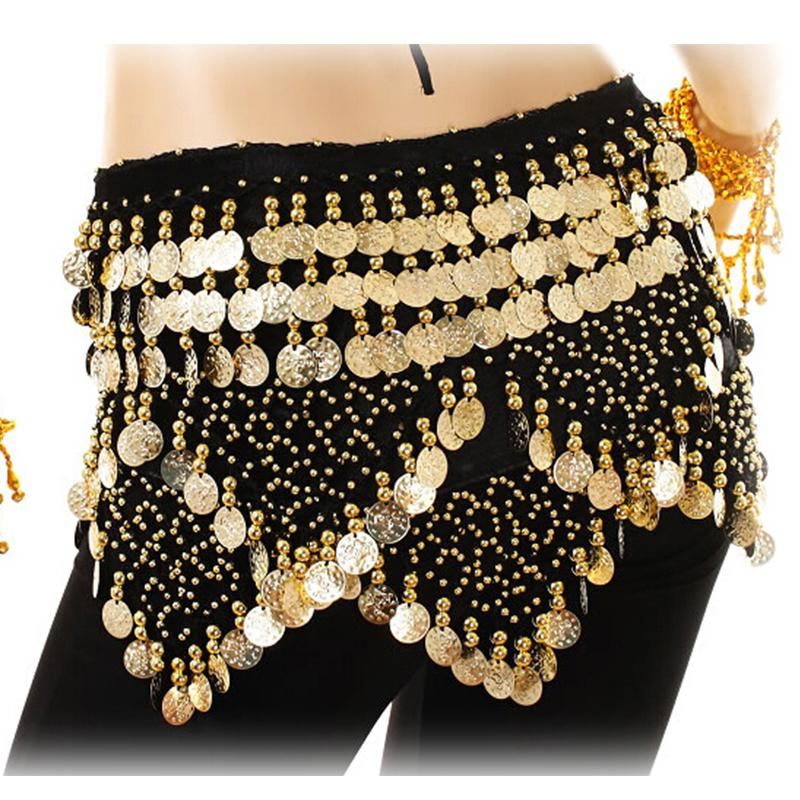 d24ce386b 2019 Belly Dancing Costume Hip Scarf Indian Dance Belt Gold Coins Velvet  Rhinestone Wrap Skirt Wrap Tops Bollywood Carnival From Beasy114, $25.62 |  DHgate.