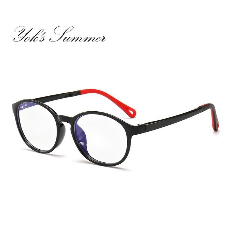 ebd7a6fdb08 2019 Yok S Anti Blue Ray Children Eyeglasses 3 To 6 Years Kids Computer  Gaming Flexible TR90 Titanium Round Glasses Reading Eyewear CH1099 From  Yoks