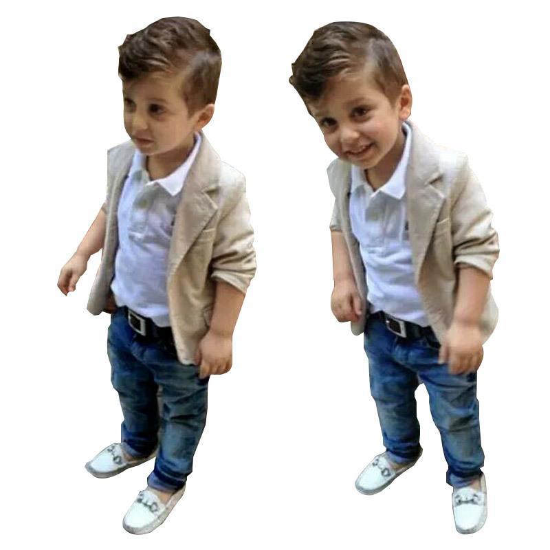 7480859e1 2019 1 7 Years Boys Clothing Set Baby Boys Suit Set Children Jacket ...