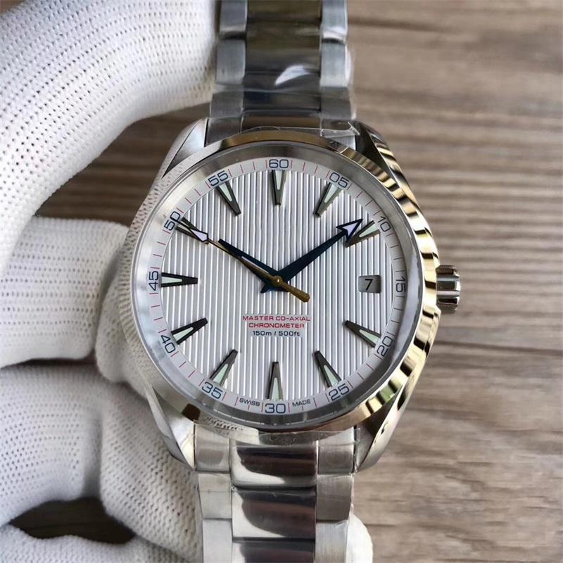 2019 New Watches Stainless Steel Bracelet Aqua Terra 150m Master 41.5mm Stainless Steel 41.5mm MAN WATCH Wristwatch