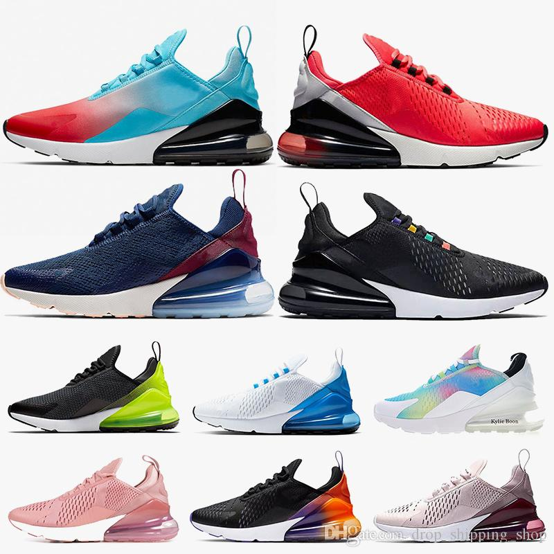 Hot Fashion 27C Women Mens Running Shoes Air Cushions Firecracker Red Orbit Volt Kylie Boon 270s Triple Black Barely Rose Trainers Sneakers