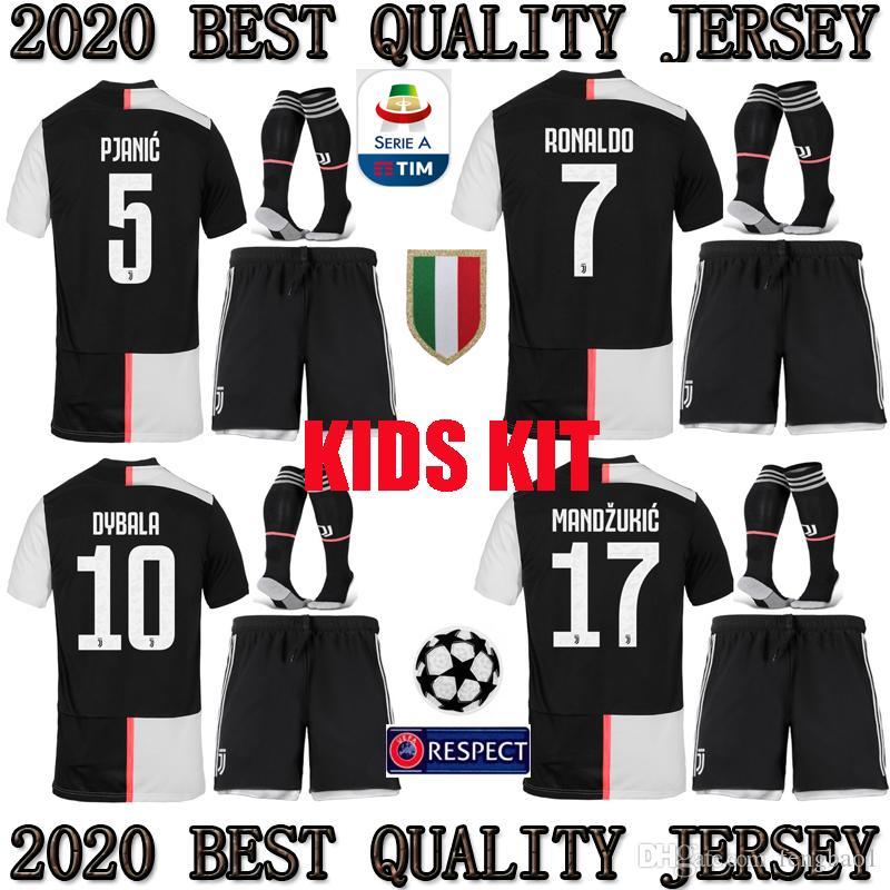 873aa69ea6a 2019 2019 2020 CR7 Juventus Kids Kit Jersey 19 20 Juventus Children RONALDO  DYBALA Soccer Shirt MARCHISIO MANDZUKIC PJANIC HOME Football Uniform From  ...