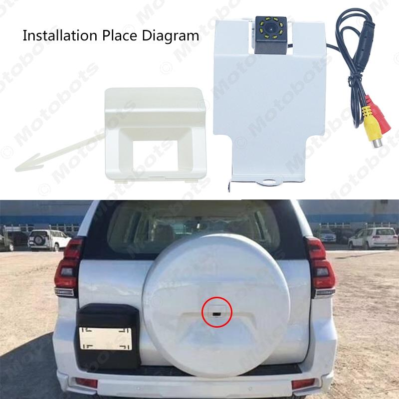 Car Backup Rear View Camera For Toyota Prado (Middle East) Install In Spare Tire Cover Reversing Camera #6097
