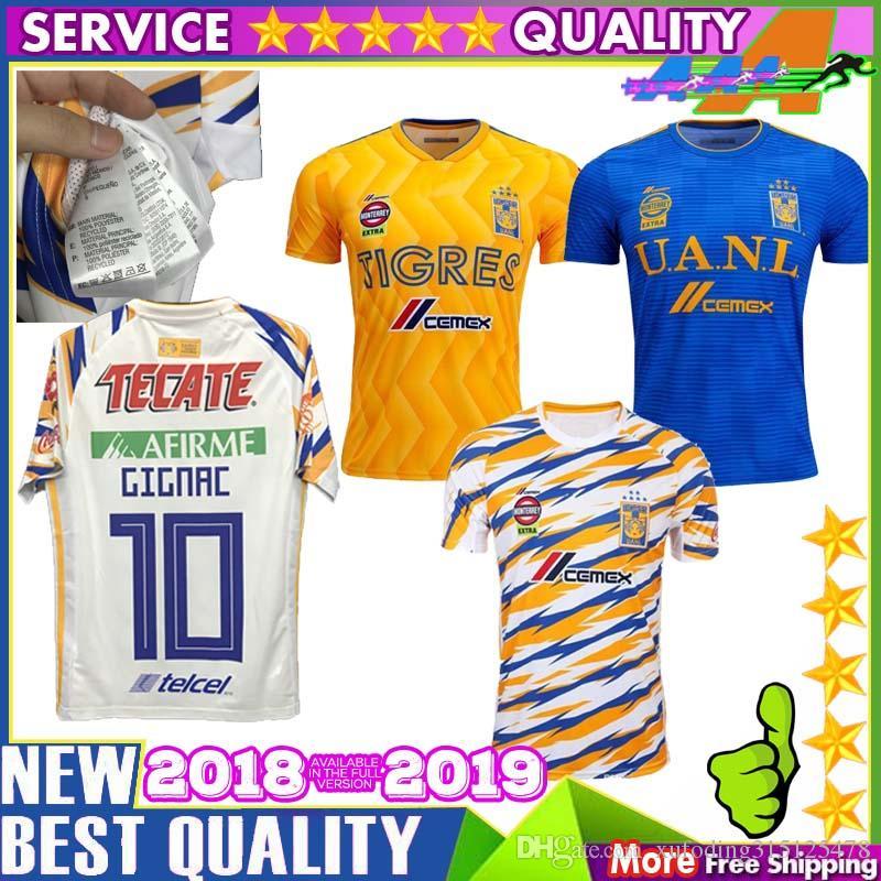 3774e67a277 2019 2019 2020 UANL TIGRES New Third DE LA Soccer JERSEYS 19/20 Mexico Club  LIGA MX Maillot De Foot Home Yellow 6 Star GIGNAC Football Shirts From ...