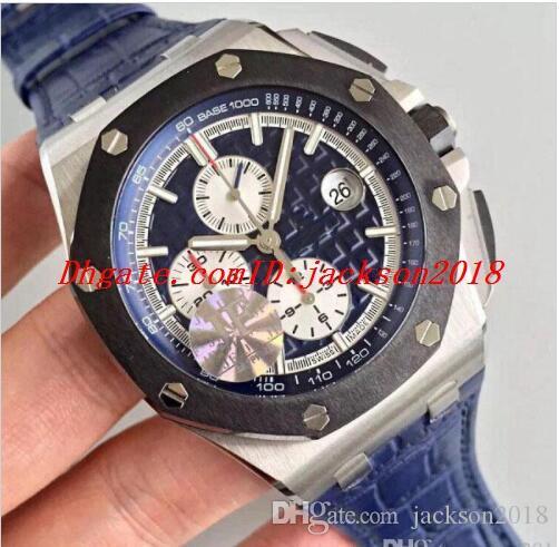 a9b45832ef05 Compre Los Mejores Relojes Deportivos Para Hombres J   F Automático  Cal.3126 Cronógrafo Reloj Hombre Azul Dial 44mm Fecha Zafiro 26470 ST  Cronógrafo De ...