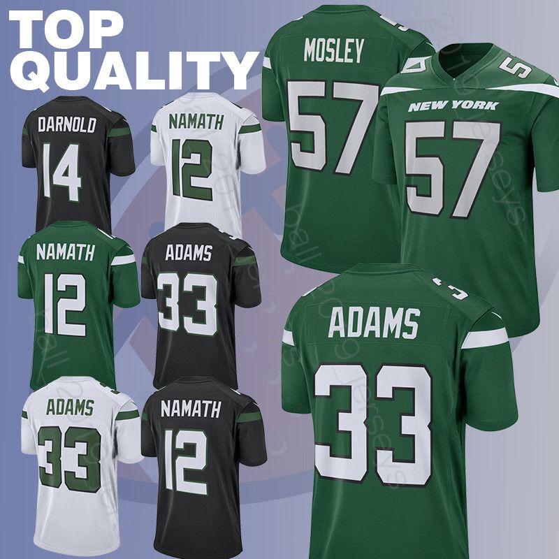 9bd87b17bd0 2019 Jets 33 Jamal Adams Jersey 14 Sam Darnold 12 Joe Namath 57 C.J. Mosley  Jerseys 2019 New Hot Sale Football Jerseys From Ball_2019_jerseys, ...