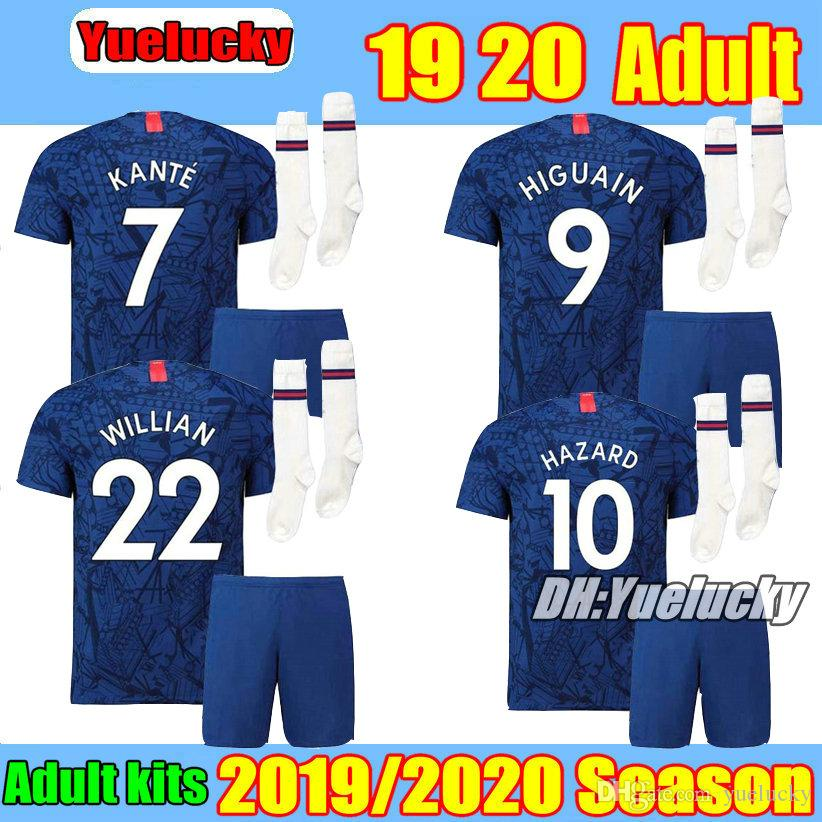 the best attitude e0755 39554 19 20 Adult HAZARD Kits home blue soccer Jersey RUDIGER FABREGAS KANTE  WILLIAN BATSHUAYI TERRY 2019 2020 Away PEDRO MORATA Football Shirt