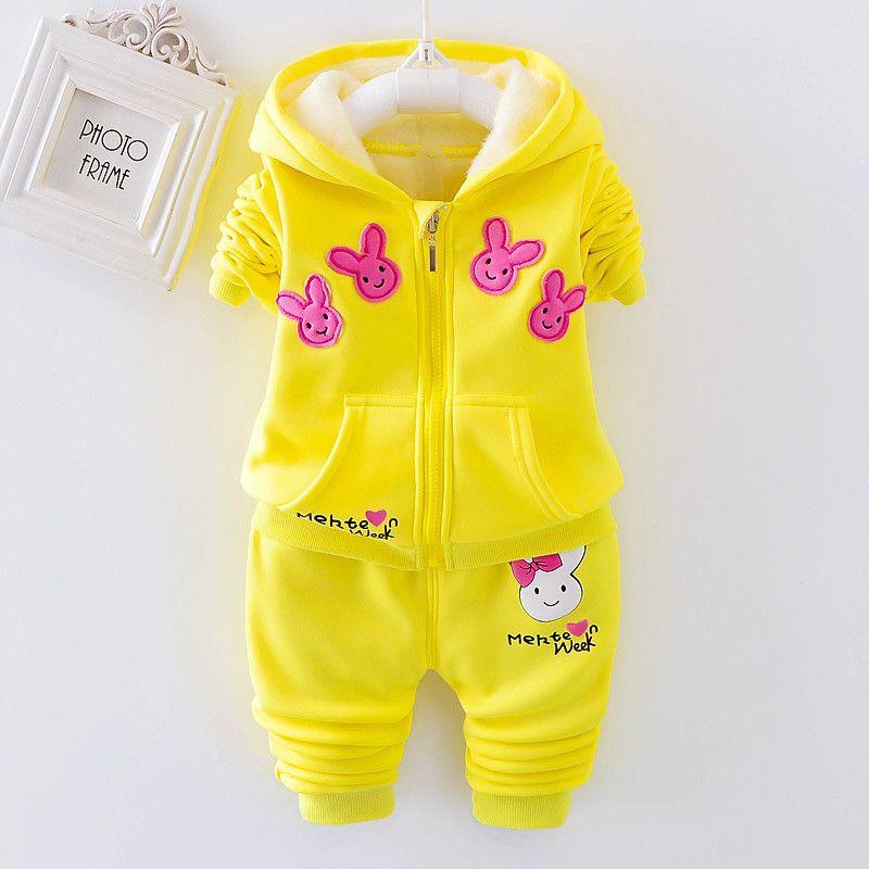 84ea8710ac33b good quality 2018 Spring Autumn Children Girls Clothing Set girls sports  suit baby tracksuit Cartoon kids Girls Clothes Set