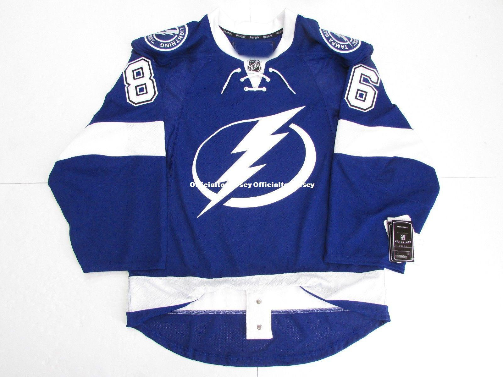 reputable site ec154 4ed83 Cheap custom NIKITA KUCHEROV TAMPA BAY LIGHTNING HOME EDGE 2.0 7287 JERSEY  stitch add any number any name Mens Hockey Jersey GOALIE CUT 5XL