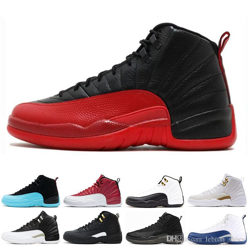 0e5fbfe0ed51 12 12s Mens Basketball Shoes Taxi Gym Red THE MASTER Bulls FLU GAME GAMMA  BLUE FRENCH BLUE Men Sports Sneakers Basketball Gear Basketball Sneakers  From ...