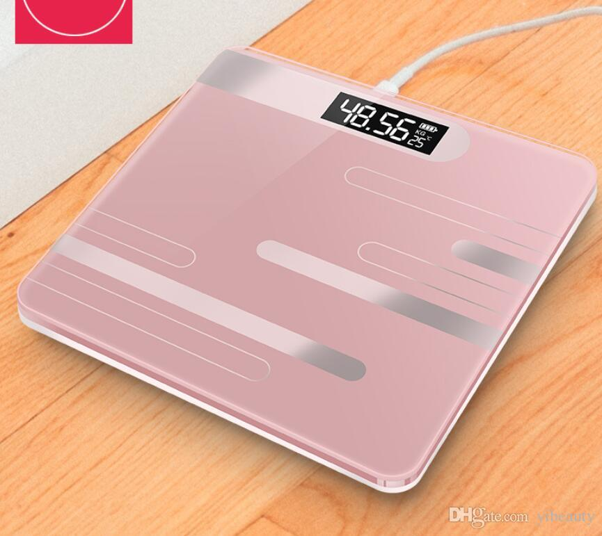New Electronic Weight Scale Adult Healthy Body Weight USB Charging Battery Battery Pack Posting Mini Household Load 180 kg
