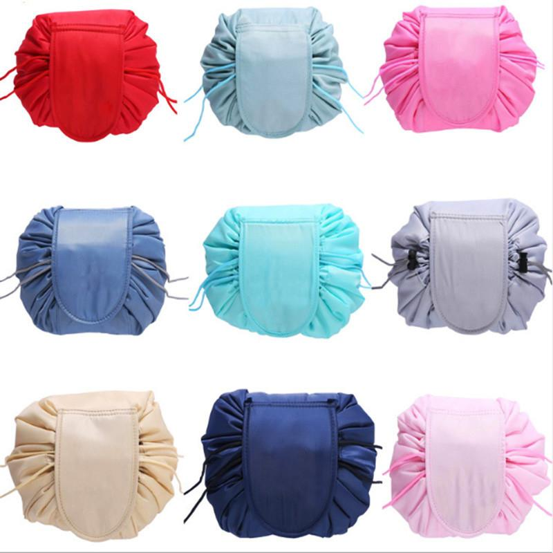 3de425cefe63 Large Capacity Drawstring Makeup Bag Portable Travel Resuable Dual Magic  Cosmetic Bag Artist Wash Bags Storage Organizer