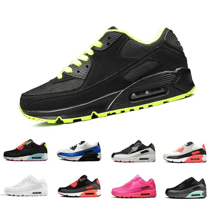 Acquista 2018 Cheap Men Sneakers Scarpe Classic 90 Mens Scarpe Da Corsa  Donna Sport Scarpe Da Ginnastica Classic Air Cushion Sneakers Di Marca  Chaussures ... baa06849759