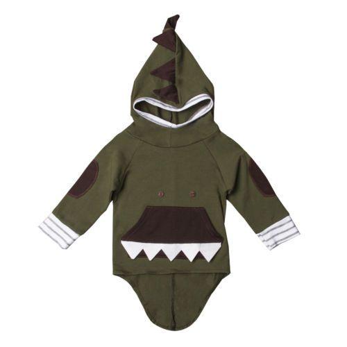 selezione migliore 69cef f53fb Felpa con cappuccio da bambina per neonato Felpa con cappuccio per  dinosauro con cappuccio Felpa con cappuccio per neonato Outfits Outfits  0-24 mesi