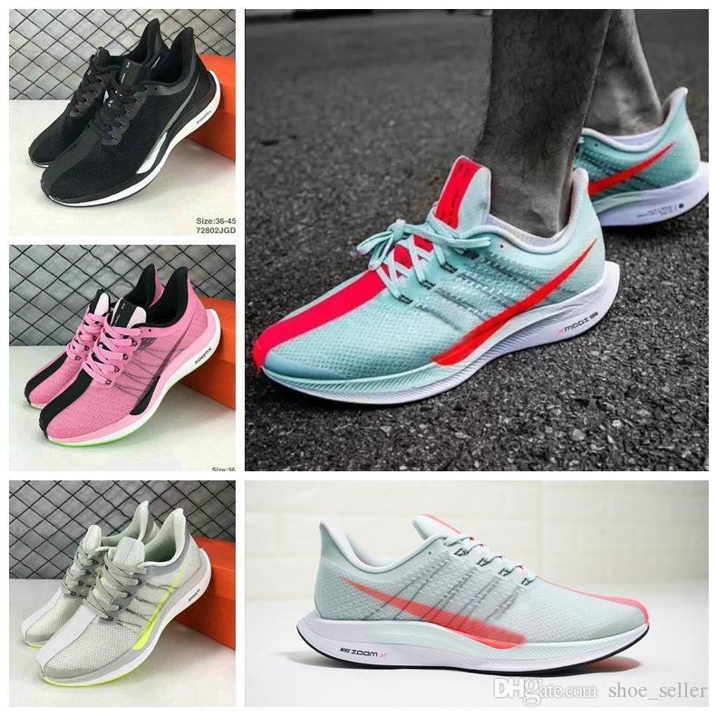 78606fd2c04 2018 Zoom Pegasus Turbo Barely Grey Hot Punch Black White Running Shoes Men  Women React Zoom X Vaporfly Pegasus 35 Trainers Zapatos 36 45 Top Running  Shoes ...