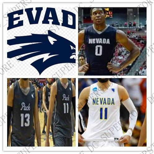 buy online ed7f3 9d788 Custom Nevada Wolf Pack College Basketball Stitched Any Name Number Caleb  Martin Caroline Cody Martin NCAA Jerseys XS-5XL