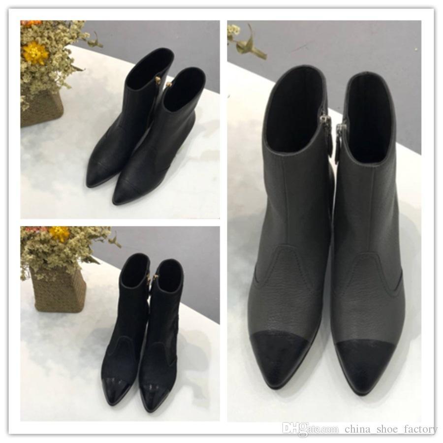 1fb165de2 Compre Marcas De Luxo Lazer Sapatos Femininos Importados Moda De Couro  Genuíno Botas De Salto Baixo Apontou Das Mulheres De China_shoe_factory, ...