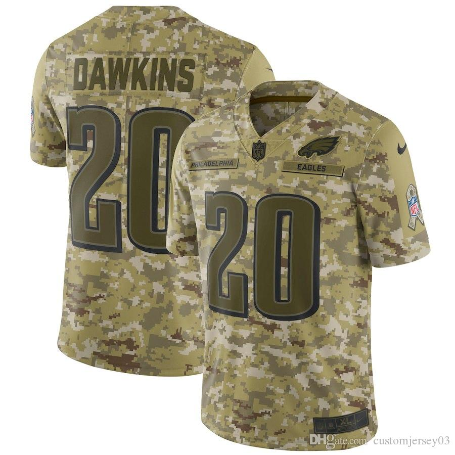 41541cc9 2019 Men's Philadelphia Eagles #20 Brian Dawkins Camo Salute to Service  Retired Player Limited Jersey