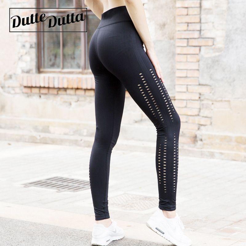 Compre Leggins Para Mujer Deporte Fitness Hollow Yoga Pantalones Mujeres  Cintura Alta Control De La Barriga Medias Gimnasio Leggings Ropa Deportiva  Para ... 72aba9d292e87