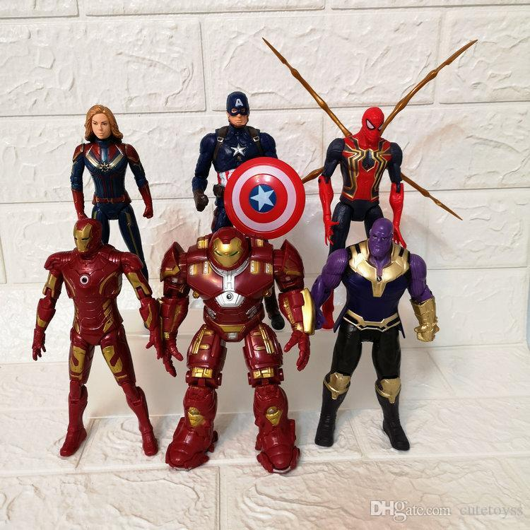Netter 6 Stil Avengers 4 Captain Marvel Actionfiguren Puppe Spielzeug 2019 Neue Kinder Avengers Endgame Captain Marvel Thanos Iron Man Spiderman Spielzeug