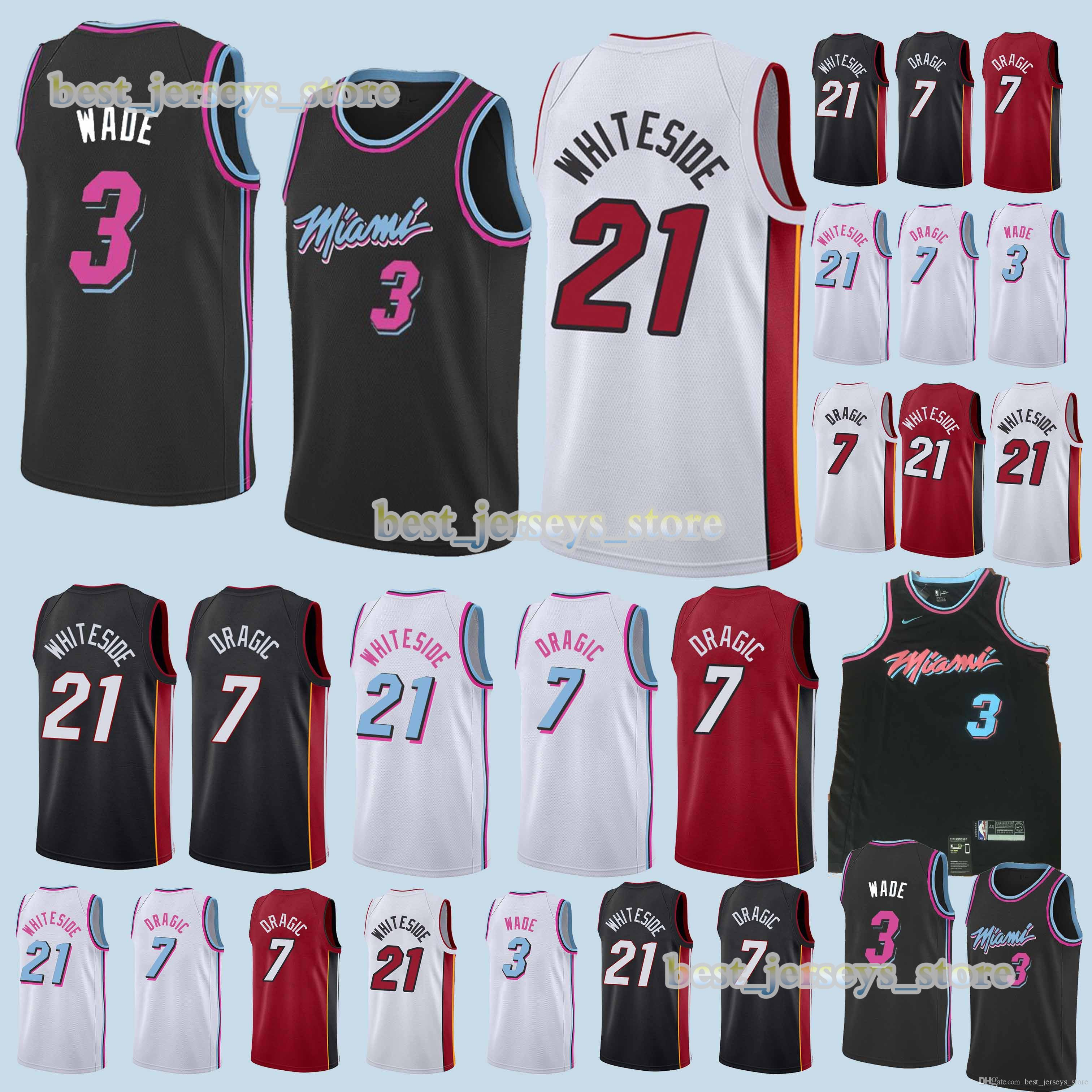 52237289328 2019 3 Wade 2019 21 Whiteside 7 Dragic Basketball Jerseyssuperior Quality 18  19 Hot Sale Jersey Sportswear Design Sweater From Best jerseys store