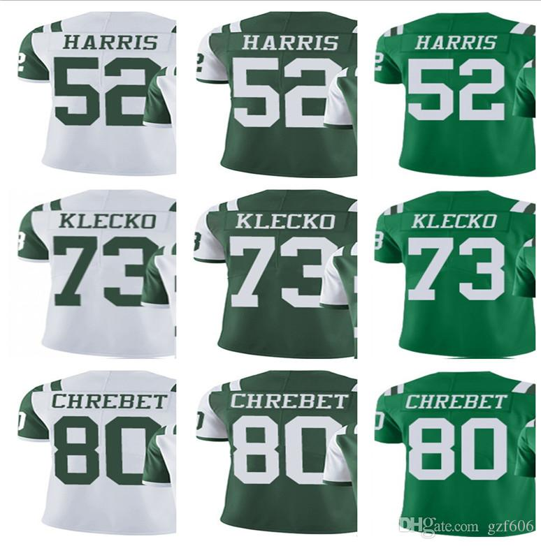 brand new fe549 4cf0b Men Women Youeh New York 52 David Harris 73 Joe Klecko Jets Jersey 80 Wayne  Chrebet Green Limlted jerseys