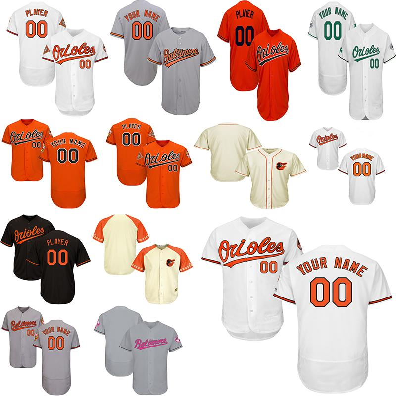 7e258181b 2019 Customized Mens Women Youth Baltimore Orioles Jersey Embroidery ...