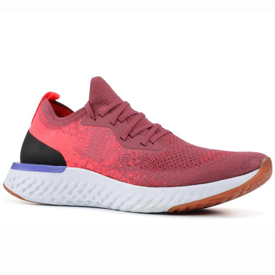 best website 27ea8 aeeed Scarpe Sneakers 2019 Nike Epic React Flyknit Sneakers AAA Qualità Scarpe Da  Corsa Wolf Grey Betrue College Navy Nero Bianco Sport Mens Designer Donna  Scarpe ...