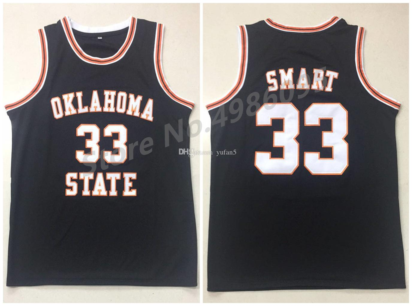the latest f17d0 08230 #33 Marcus Smart Oklahoma State Cowboys College Black Retro Basketball  Jersey Men s Stitched Custom Any Number Name Jerseys