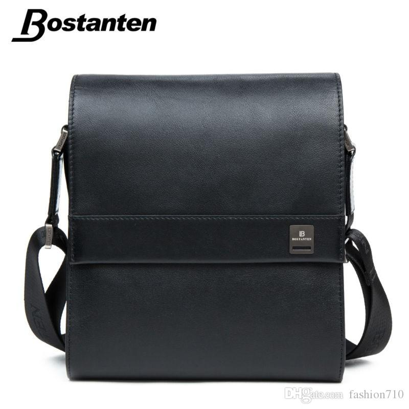 31e32dd3449a Bostanten Man Vertical Genuine Leather Bag Men Messenger Business ...