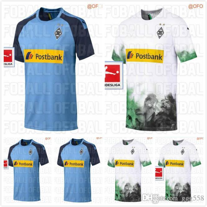 newest 19 20 Borussia Monchengladbach Jersey RAFFAEL STINDL Soccer Jersey  2019 2020 Monchengladbach Home White Football Shirts Sport Tops