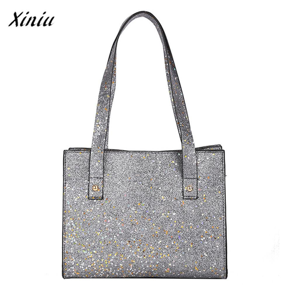3aede842efba Xiniu Luxury Handbags Women Bags Designer s Fashion Sequins Leather Shoulder  Bags With Corssbody Bag Handbag For Teens Girls Shoulder Bags Cheap Shoulder  ...