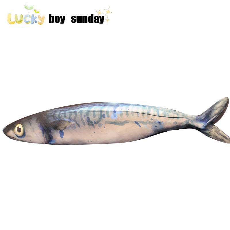 Lucky Boy Sunday Simulation Fish Plush Doll For Kids Girls Creative Soft Fish Plush Toy Cat Pet Toy Gift For Kids