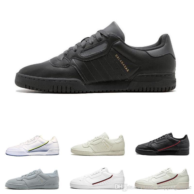 cbe1d29d30e32 2019 Calabasas Powerphase Grey Continental 80 Casual Shoes Aero Blue Core  Black OG White Men Women Fashion Sneakers 40 45 Walking Shoes Flat Shoes  From ...