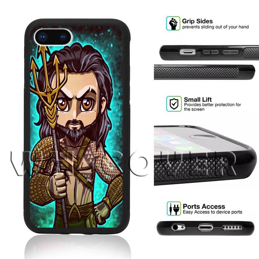 sports shoes aa90b 8e9d7 Aquaman Mera Trident of Neptune Phone Case Jason Momoa Cute CSA Justice  League Movie For iPhone iX i8 i8Plus i7 i7 i6 i6s SE T6 Cover
