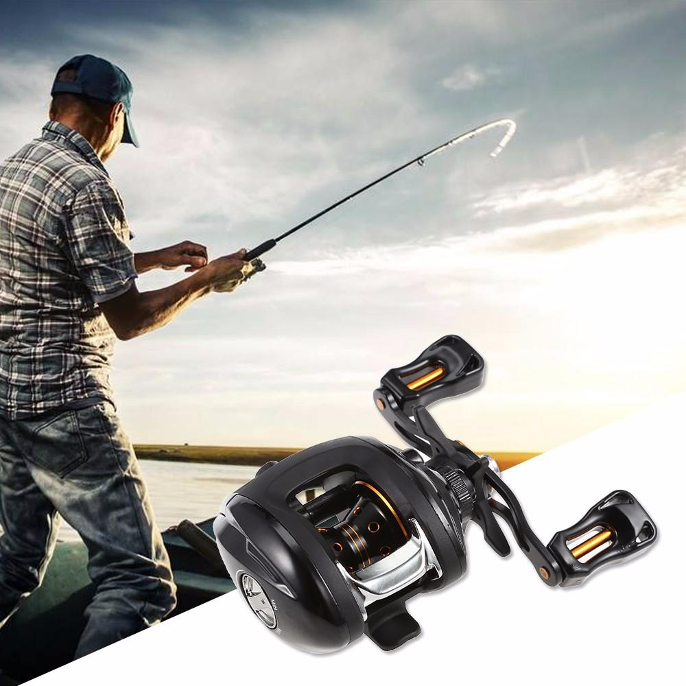 12 1 Ball Bearings 6 3:1 Left / Right Hand Fishing Baitcasting Reel Dual  Brake System Reel 10kg Max Drag High Speed Fishing Reel