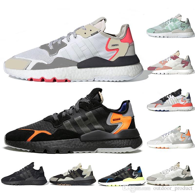adidas nite jogger 2019 Fashion Nite Jogger Laufschuhe Core schwarz TRACE PINK ICE MINT weiß grau 3M reflektierende Schuhe Herren Turnschuhe Damen