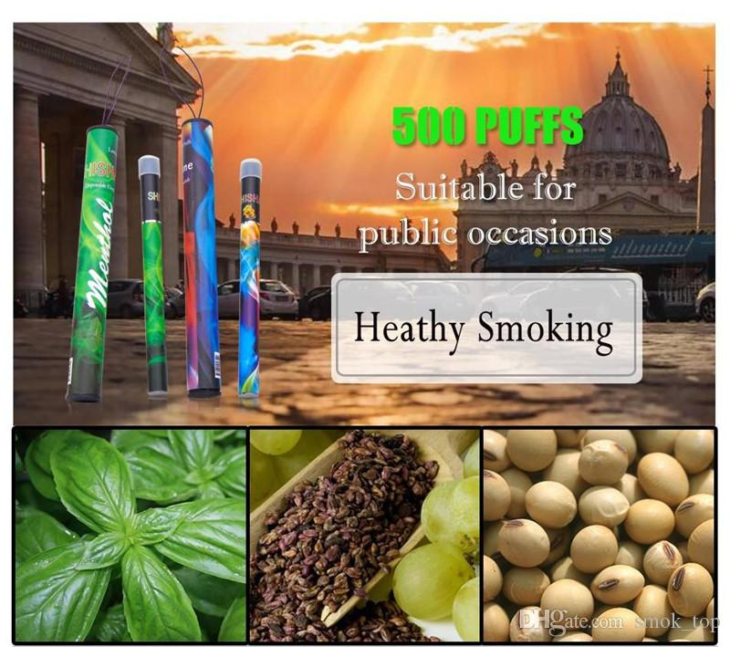 100% Shisha pen Eshisha Disposable Electronic cigarettes shisha time E cigs 500 puffs 30 type Various Fruit Flavors Hookah pen